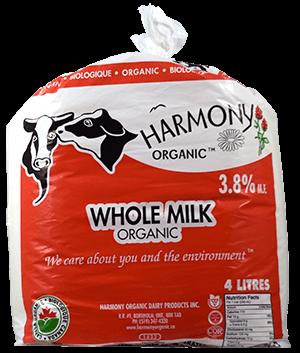 Organic 3.8% Whole Milk 4 Litre Bag