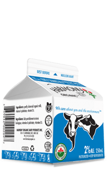 Organic 2% Milk 250ml Carton