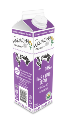 Organic 10% Half & Half Cream One Litre Carton