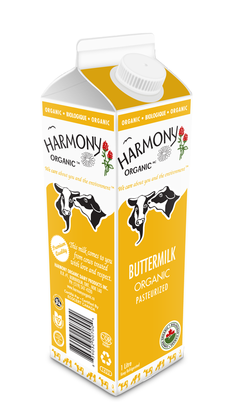 Organic Buttermilk One Litre Carton